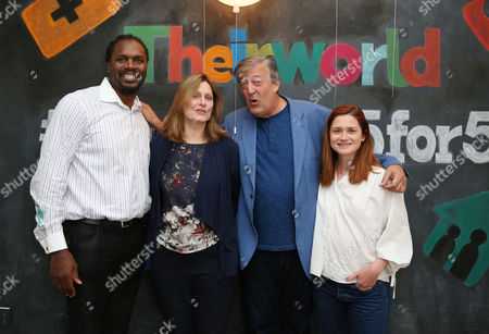 Audley Harrison, Sarah Brown, Stephen Fry and Bonnie Wright