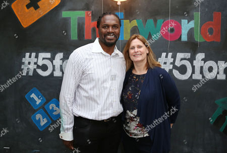 Stock Picture of Audley Harrison and Sarah Brown