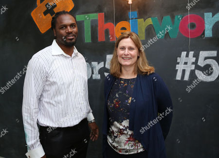Stock Image of Audley Harrison and Sarah Brown