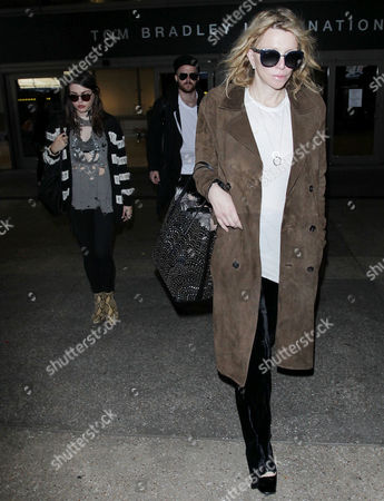 Stock Picture of Courtney Love, Frances Bean Cobain, Isaiah Silva