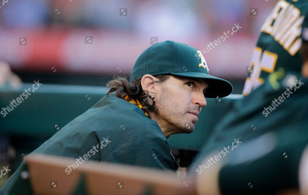 Barry Zito Oakland Athletics starting pitcher Barry Zito watches from the dugout during the fifth inning of a baseball game against the Los Angeles Angels, in Anaheim, Calif