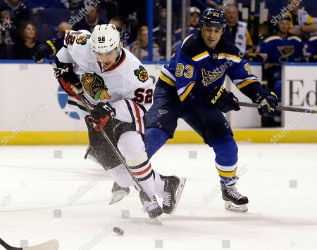 Editorial image of Blackhawks Blues Hockey, St. Louis, USA