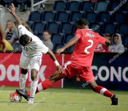 Johnny Grant Canada defender Johnny Grant (2) steals the ball from Panama midfielder Edgar Yoel Barcenas (11) during the second half of a CONCACAF men's Olympic qualifying soccer match, in Kansas City, Kan. Canada won 3-1