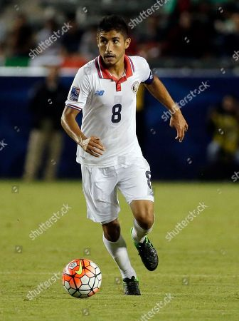 Costa Rica's Luis Sequeira plays against Mexico in the second half of a CONCACAF men's Olympic qualifying soccer match in Carson, Calif., . Mexico won 4-0