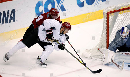 Editorial image of Coyotes Camp Hockey, Glendale, USA