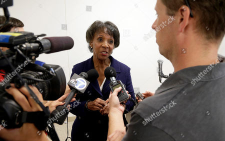 Jackie Lacey Los Angeles County District Attorney Jackie Lacey takes questions after community leaders, victims and elected officials announced efforts to place an initiative on the 2016 ballot to speed up executions for murderers sentenced to death in California, at a news conference in Los Angeles