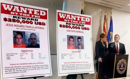 Stock Photo of James L. Turgal, Jr., Laura E. Duffy With wanted posters off to the side, Laura E. Duffy, United States Attorney Southern District of California, and FBI Special Agent in Charge, James L. Turgal, Jr., right, announce the indictments on five suspects involved in the death of U.S. Border Patrol agent Brian Terry in Tucson, Ariz. Two men charged with murder in the death of a U.S. Border Patrol agent that revealed the bungled gun-smuggling investigation known as Fast and Furious go on trial . Jesus Leonel Sanchez-Meza, also known as Lionel Portillo-Meza, and Ivan Soto-Barraza will be the first to face trial
