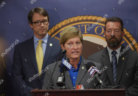Jill Snyder, Benjamin Wagner, Graham Barlowe Jill A. Snyder, Special Agent in Charge for the Bureau of Alcohol, Tobacco, Firearms and Explosives discusses the indictment of 8 men on a variety of firearm charges including the manufacturing and dealing in firearms without a license, during a news conference in Sacramento, Calif., . At left is Benjamin Wagner, the United States Attorney for the Eastern District of California, and at right is Graham Barlowe, ATF Resident Agent in Charge