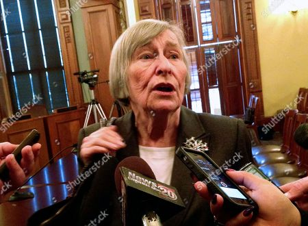 Barbara Flynn Currie State Rep. Barbara Flynn Currie, D-Chicago, speaks to reporters at the state Capitol in Springfield, Ill. Top Democrats are warning that Illinois will run out of money to operate in just a few months if lawmakers can't agree on a state budget. But they still insist they won't cave to Gov. Bruce Rauner's demands to weaken public-worker unions to get a budget deal. Currie said, the Republican governor's plan to let local governments opt out of collective bargaining is an attack on the middle class