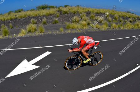 Ben Hoffman Ben Hoffman rides during the cycling portion of the Ironman World Championship Triathlon, in Kailua-Kona, Hawaii