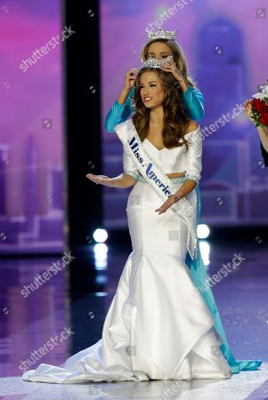 Betty Cantrell, Kira Kazantsev Miss Georgia Betty Cantrell reacts as she is crowned Miss America 2016 by Miss America 2015 Kira Kazantsev at the 2016 Miss America pageant, in Atlantic City, N.J