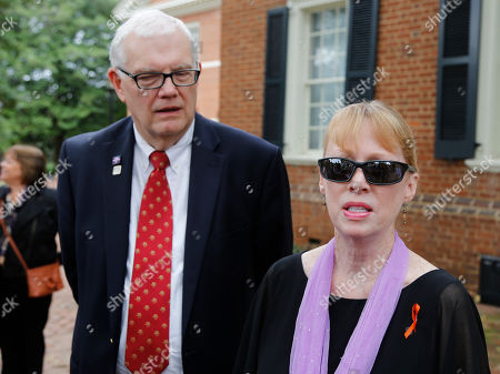 Jill Harringotn, Dan Harrington Jill and Dan Harrington, parents of Morgan Harrington, talk to the media as they arrive at court to attend a hearing for Jess Matthew who has been charged in the murder of their daughter in Charlottesville, Va