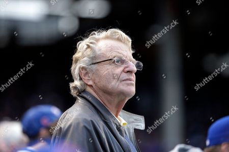 Jerry Springer Jerry Springer watches during Game 4 in baseball's National League Division Series between the Chicago Cubs and the St. Louis Cardinals, in Chicago