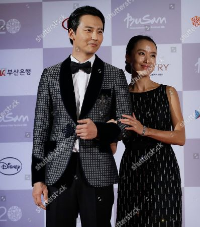 Jeon Do-yeon, Kim Nam-gil South Korean actress Jeon Do-yeon and actor Kim Nam-gil pose as they arrive to attend the opening ceremony of the Busan International Film Festival at Busan Cinema Center in Busan, South Korea