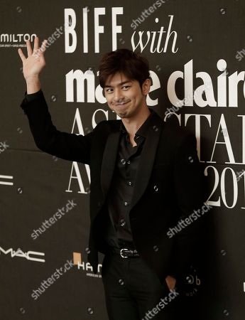 Bolin Chen Taiwanese actor Chen Bolin waves as he arrives to attend Asia Star Awards 2015 during the Busan International Film Festival in Busan, South Korea, . Asia's largest film festival opened its doors on Thursday for 10 days of screenings that will highlight the region's young talent and its rich heritage