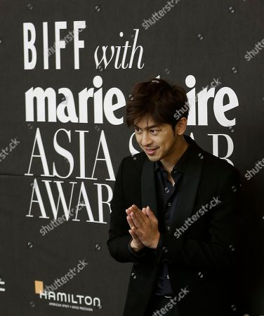 Bolin Chen Taiwanese actor Chen Bolin gestures as he arrives to attend Asia Star Awards 2015 during the Busan International Film Festival in Busan, South Korea, . Asia's largest film festival opened its doors on Thursday for 10 days of screenings that will highlight the region's young talent and its rich heritage