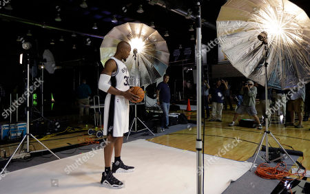 David West San Antonio Spurs' David West poses for photos during media day at the team's practice facility, in San Antonio