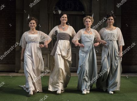 Rebecca Collingwood as Katharine, Leah Whitaker as Princess of France, Lisa Dillon as Rosaline, Paige Carter as Maria