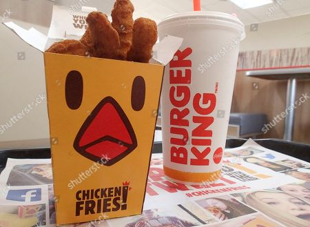Chicken Fries Seen Burger King Restaurant Orlando Editorial Stock