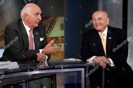 """Richard Grasso, Ken Langone Ken Langone, left, a co-founder of Home Depot, and former New York Stock Exchange Chairman Richard Grasso, are interviewed by Maria Bartiromo on her """"Mornings with Maria"""" program, on the Fox Business Network, in New York"""