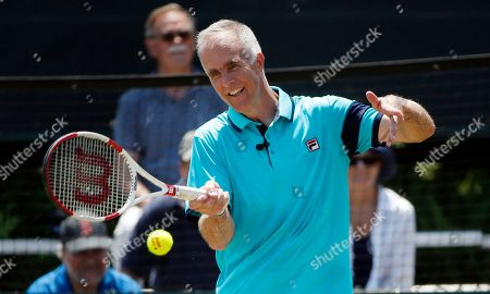 Todd Martin International Tennis Hall of Fame CEO Todd Martin plays in an exhibition doubles match at the hall of fame in Newport, R.I