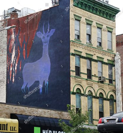 Editorial picture of Iran Mural, New York, USA