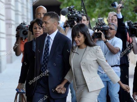 Jesse Jackson Jr., Sandra Jackson Former Illinois Rep. Jesse Jackson Jr. and his wife, Sandra, arrive at federal court in Washington. The Bureau of Prisons says former U.S. Rep. Jesse Jackson Jr. has officially completed his 2 ½-year prison sentence for spending $750,000 in campaign money on personal items. Bureau spokesman Edmond Ross says the Illinois Democrat's home confinement in Washington, D.C., will be lifted Friday and his ankle monitor removed. With Jackson's freedom, his wife will have to report to prison soon to serve a one-year sentence on a tax conviction related to the campaign money