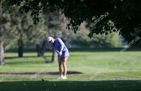 Natalie Gulbis Natalie Gulbis hits her second shot on the ninth hole during the second round of the Meijer LPGA Classic golf tournament at Blythefield Country Club, in Belmont, Mich