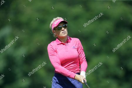 Natalie Gulbis Natalie Gulbis watches her drive on the 16th hole during the final round of the Meijer LPGA Classic golf tournament at Blythefield Country Club, in Belmont, Mich