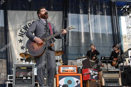 Colin Meloy of The Decemberists performs during the Newport Folk Festival, the second day of the three-day festival at Fort Adams State Park in Newport, R.I