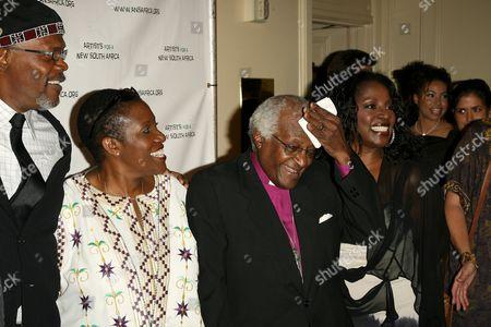 Samuel L Jackson, La Tanya Richardson and Desmond Tutu