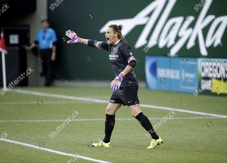 Nadine Angerer Portland Thorns goalkeeper Nadine Angerer is shown during an NWSL soccer match against the Washington Spirit in Portland, Ore