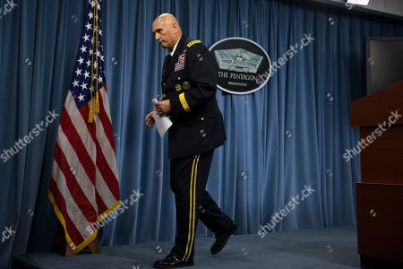 Ray Odierno Outgoing Army Chief of Staff Gen. Ray Odierno walks off after conducting his final news briefing at the Pentagon