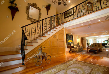 This photo shows the foyer of the five-bedroom Florida mansion belonging to 1970's heartthrob David Cassidy in Fort Lauderdale, Fla. Cassidy, 65, is auctioning the waterfront home and all its furnishings Sept. 9 as part of bankruptcy and divorce proceedings