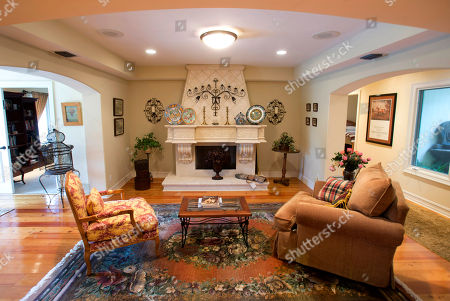 This photo shows a room in the five-bedroom Florida mansion belonging to 1970's heartthrob David Cassidy in Fort Lauderdale, Fla. Cassidy, 65, is auctioning the waterfront home and all its furnishings Sept. 9 as part of bankruptcy and divorce proceedings
