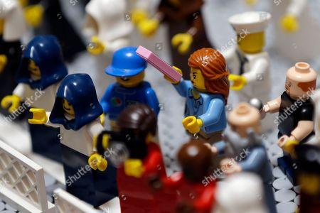 Editorial photo of Pope Legos, Philadelphia, USA