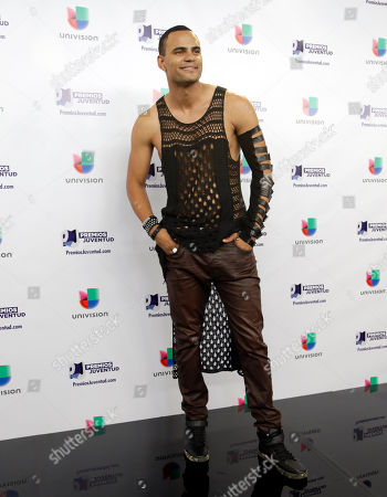 Stock Image of Mohombi Musician Mohombi poses for a photo at the Premios Juventud 2015, in Coral Gables, Fla