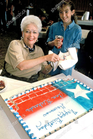 Ann Richards with cake