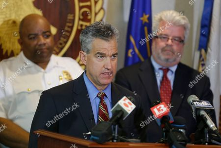 Richard Hite, Josh Minkler, Steven D. DeBrota US Attorney Josh Minkler, center, Indianapolis Police chief Richard Hite, left, and Assistant US Attorney Steven D. DeBrota discuss the child pornography case against former Subway restaurant spokesman Jared Fogle following his hearing in Indianapolis, . Fogle agreed to plead guilty to allegations that he paid for sex acts with minors and received child pornography in a case that destroyed his career at the sandwich-shop chain and could send him to prison for more than a decade