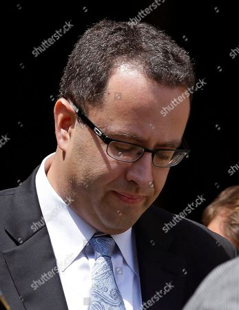 Jared Fogle Former Subway pitchman Jared Fogle leaves the federal courthouse in Indianapolis, following a hearing on child-pornography charges. Fogle is scheduled, to face a federal judge in Indianapolis for sentencing, after agreeing in August to plead guilty to charges of illicit sexual conduct with a minor and receiving child pornography