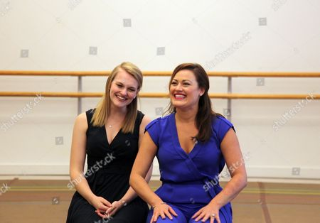 """Kerstin Anderson, who will portray Maria, left, and Ashley Brown, who will portray Mother Abbess, appear during a press day for the national tour of """"The Sound of Music,"""" in New York. The production will travel to Boise, Idaho from Sept. 14-15, before heading to Los Angeles from Sept. 20 - Oct. 31"""