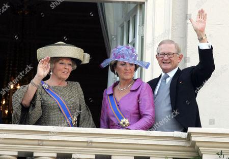 Queen Beatrix, Princess Margriet and Pieter Van Vollenhoven Sohngen