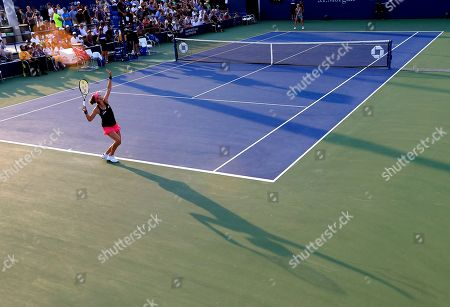 Belinda Bencic Belinda Bencic, of Switzerland, serves to to Sesil Karatantcheva, of Bulgaria, during the first round of the U.S. Open Tennis tournament in New York