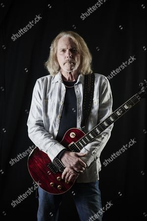 Cardiff United Kingdom - December 16: Portrait Of American Musician Scott Gorham Guitarist With Hard Rock Group Black Star Riders Photographed Backstage Before A Live Performance At The Motorpoint Arena In Cardiff On December 16