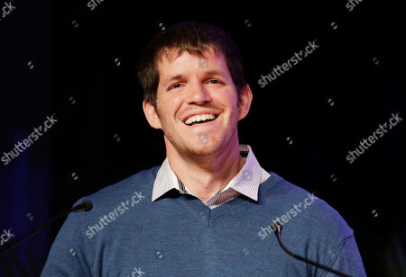 """Stock Photo of Brandon Stanton Photographer Brandon Stanton speaks at BookExpo America, in New York. His latest book, """"Humans of New York: Stories"""" is to be published in October"""