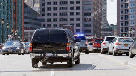 A motorcade carrying Boston Marathon bomber Dzhokhar Tsarnaev drives away from the district around the Moakley Federal Courthouse following the formal sentencing of Tsarnaev in Boston, . Tsarnaev apologized to the victims and their loved ones for the first time Wednesday just before the judge formally sentenced him to death
