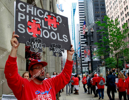 Editorial image of Chicago Schools-Budget-Protest, Chicago, USA