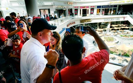Steve Ballmer The Los Angeles Clippers owner Steve Ballmer has a selfie taken with fans while he gives away cupcakes and T-shirts with the new Clippers logo on them at Sprinkles Cupcakes in downtown Los Angeles on . The Clippers introduce new guard Lance Stephenson on the same day they begin promoting a new logo and uniforms at prominent locations across Los Angeles. Both moves are steps into the future for owner Steve Ballmer's reinvigorated franchise as it breaks from its miserable past