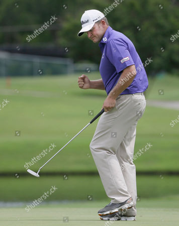 Jason Bohn Jason Bohn reacts to sinking his putt on the 16th hole during the final round of the Colonial golf tournament, in Fort Worth, Texas