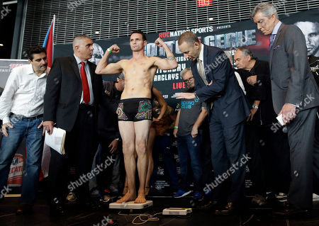 Daniel Geale Boxer Daniel Geale stands on the scale during the weigh-in for his fight against Miguel Cotto at the Barclays Center, in the Brooklyn borough of New York. Cotto is slated to defend his WBC world middleweight title against Geale on Saturday